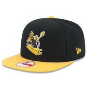 Pittsburgh Steelers New Era Historic Logo Baycik 9FIFTY Snapback Adjustable Hat - Black/Gold