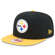 Pittsburgh Steelers New Era Shield Historic Logo Baycik 9FIFTY Snapback Adjustable Hat - Black