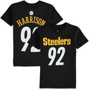 James Harrison Pittsburgh Steelers Youth Mainliner Name & Number T-Shirt - Black