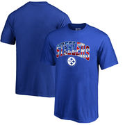 Pittsburgh Steelers NFL Pro Line by Fanatics Branded Youth Banner Wave T-Shirt - Royal