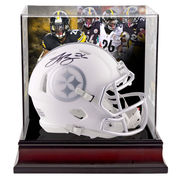 Le'Veon Bell Pittsburgh Steelers Fanatics Authentic Autographed Riddell Speed ICE Mini Helmet with Deluxe Mini Helmet Case