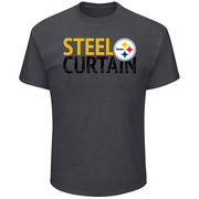Pittsburgh Steelers Majestic Safety Blitz T-Shirt - Heathered Charcoal