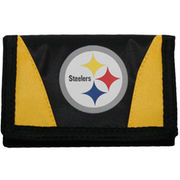 Pittsburgh Steelers Black-Gold Chamber Tri-Fold Wallet