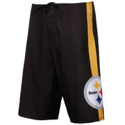Quiksilver Pittsburgh Steelers 2-Way Stretch Boardshorts - Black