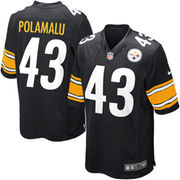 Troy Polamalu Pittsburgh Steelers Nike Youth Team Color Game Jersey - Black