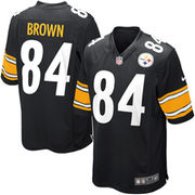 Antonio Brown Pittsburgh Steelers Nike Youth Team Color Game Jersey - Black