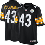 Troy Polamalu Pittsburgh Steelers Nike Team Color Limited Jersey - Black