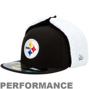 Pittsburgh Steelers On-Field Dog Ear 59FIFTY NE Tech Fitted Hat - Black