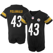 Nike Troy Polamalu Pittsburgh Steelers Newborn Game Romper Jersey - Black