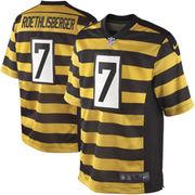 Nike Ben Roethlisberger Pittsburgh Steelers Youth Throwback Game Jersey - Black/Gold