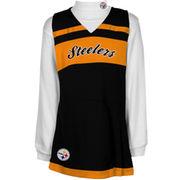 Pittsburgh Steelers Infant Jumper Long Sleeve Turtleneck Cheer Set - Black/Gold