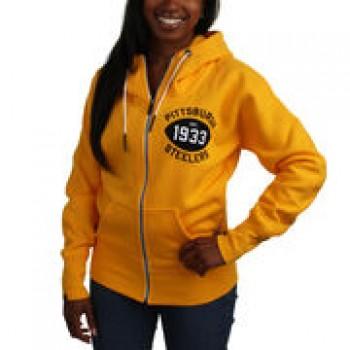 Nike Pittsburgh Steelers Women's S-Series Full Zip Hoodie - Gold