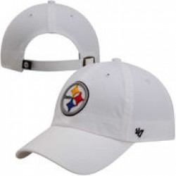 47 Brand Pittsburgh Steelers Cleanup Adjustable Hat – White ·   e72d03f94