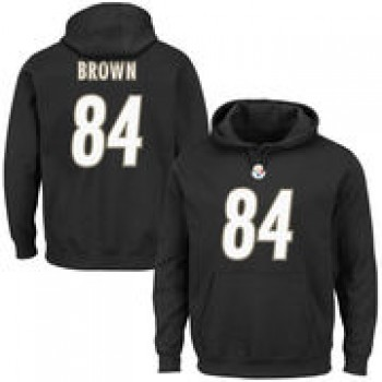 Antonio Brown Pittsburgh Steelers Majestic Eligible Receiver II Name & Number Hoodie - Black