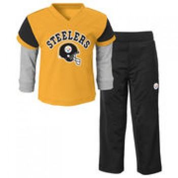 Pittsburgh Steelers Toddler Charger T-Shirt & Pant Set - Black