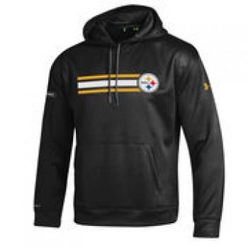 Pittsburgh Steelers Under Armour NFL Combine Authentic Fleece Pullover Hoodie - Black