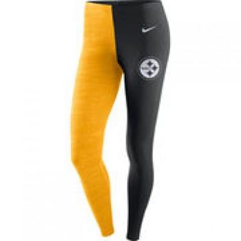 Pittsburgh Steelers Nike Women's Leg-A-See Leggings - Black/Gold