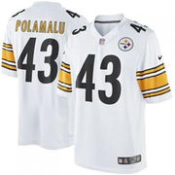 Troy Polamalu Pittsburgh Steelers Nike Limited Jersey - White