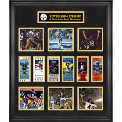 Pittsburgh Steelers Collectibles Super Bowl Collage