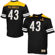 Troy Polamalu Pittsburgh Steelers Majestic Hashmark II T-Shirt - Black