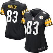 Heath Miller Pittsburgh Steelers Nike Women's Game Jersey - Black