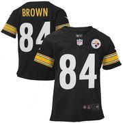 Antonio Brown Pittsburgh Steelers Nike Toddler Game Jersey - Black