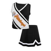 Pittsburgh Steelers Toddler Girls Team Spirit 2-Piece Cheerleader Set - Black/White