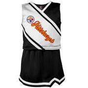 Pittsburgh Steelers Preschool Girls Team Spirit 2-Piece Cheerleader Set - Black/White