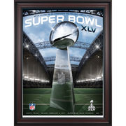 Fanatics Authentic 2011 Packers vs. Steelers Framed 36