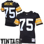Pittsburgh Steelers Mitchell & Ness Retired Player Vintage Replica Jersey - Black