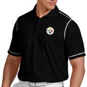 Antigua Pittsburgh Steelers Icon Polo - Black