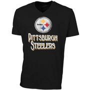 '47 Brand Pittsburgh Steelers JV Scrum V-Neck T-Shirt - Black