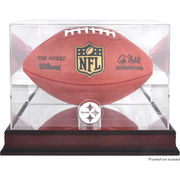Pittsburgh Steelers Fanatics Authentic Mahogany Football Logo Display Case with Mirror Back