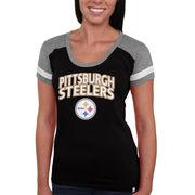 Pittsburgh Steelers '47 Brand Women's Shotgun T-Shirt - Black