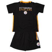 Pittsburgh Steelers Preschool Field Goal T-Shirt & Shorts Set - Black