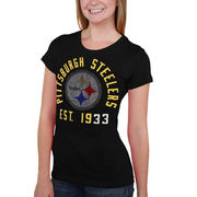 Pittsburgh Steelers Women's Shutout T-Shirt - Black