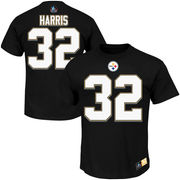 Franco Harris Pittsburgh Steelers Majestic Hall of Fame Eligible Receiver II Name & Number T-Shirt - Black