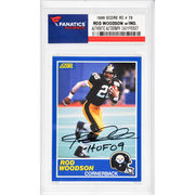 Rod Woodson Pittsburgh Steelers Fanatics Authentic Autographed 1989 Score #78 Rookie Card with HOF 09 Inscription
