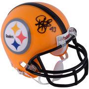 Troy Polamalu Pittsburgh Steelers Fanatics Authentic Autographed Riddell Throwback Mini Helmet