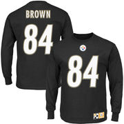 Antonio Brown Pittsburgh Steelers Eligible Receiver II Name and Number Long Sleeve T-Shirt - Black