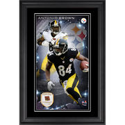 Antonio Brown Pittsburgh Steelers Fanatics Authentic Vertical Framed Photograph with Piece of Game-Used Football - Limited Edition of 250