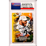 Jerome Bettis Pittsburgh Steelers Fanatics Authentic Autographed 2006 Upper Deck Super Bowl Commemorative Set #MM4 Card with The Bus Inscription