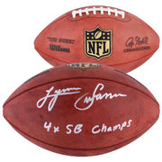 Lynn Swann Pittsburgh Steelers Fanatics Authentic Autographed Duke Pro Football with 4X SB Champs Inscription