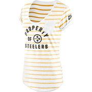 Pittsburgh Steelers Nike Women's Boyfriend Pocket T-Shirt - White