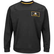 Pittsburgh Steelers Majestic Against the Odds Synthetic Pullover Therma Base Sweatshirt - Black