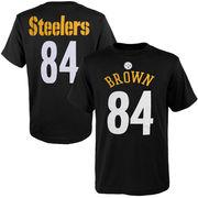 Antonio Brown Pittsburgh Steelers Youth Mainliner Name & Number T-Shirt - Black