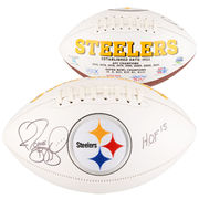 Jerome Bettis Pittsburgh Steelers Fanatics Authentic Autographed White Panel Football with HOF 2015 Inscription