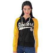 Pittsburgh Steelers G-III 4Her by Carl Banks Women's All World Pro Full Zip Hoodie - Black