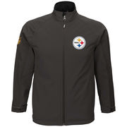 Pittsburgh Steelers Youth Transitional Soft Shell Full-Zip Jacket - Gray