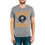 Pittsburgh Steelers Junk Food Touchdown Tri-Blend T-Shirt - Gray